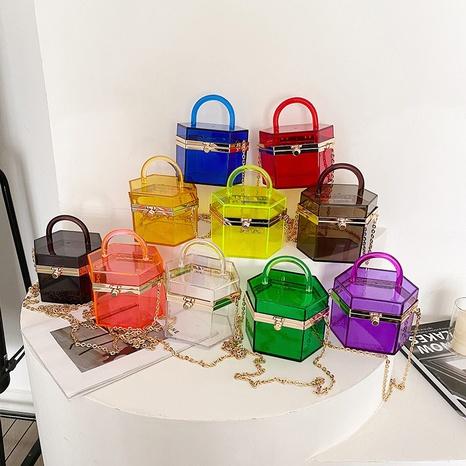 vente en gros sac messager en gelée acrylique transparente Nihaojewelry NHAV378046's discount tags