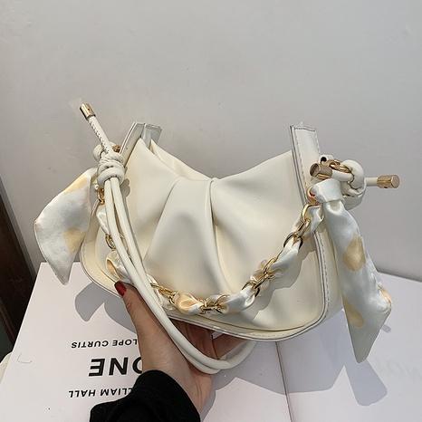 vente en gros sac à aisselles foulard en soie noeud de couleur unie Nihaojewelry NHAV378050's discount tags