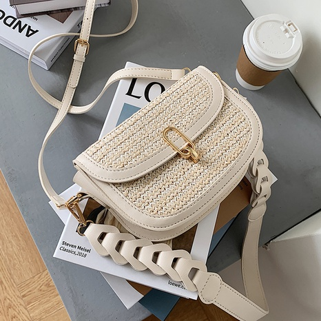 Nihaojewelry accessories wholesale new fashion thick straps straw messenger bag  NHAV378140's discount tags