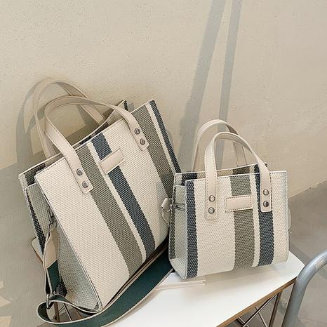 Nihaojewelry Großhandel neue trendige Mode große Kapazität Canvas Einkaufstasche NHAV378181's discount tags