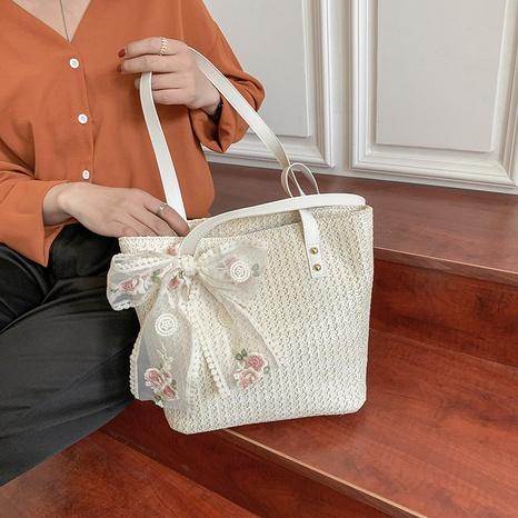 Nihaojewelry Großhandel einfache Spitze Bowknot Dekoration große Kapazität Einkaufstasche NHAV378226's discount tags