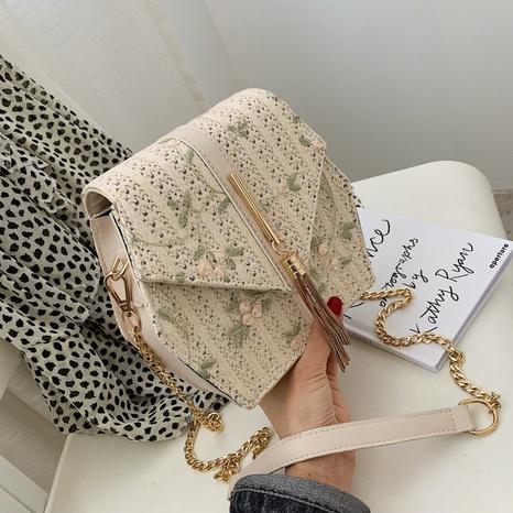 Nihaojewelry wholesale tassel straw woven chain messenger bag  NHAV378239's discount tags