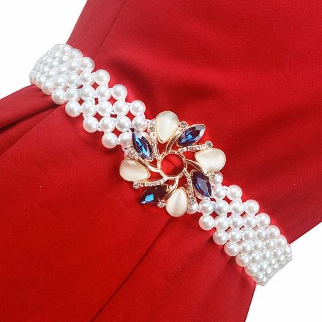 Nihaojewelry Korean styel pearl elastic waist chain Wholesale jewelry NHBOJ378706's discount tags