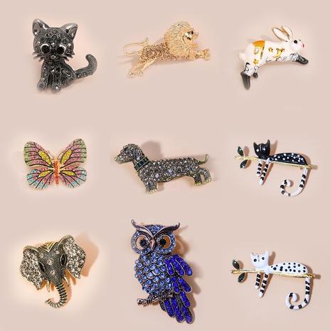 Nihaojewelry bijoux nouveau style animal insecte incrusté de diamants broche peinte en gros NHYAO378647's discount tags