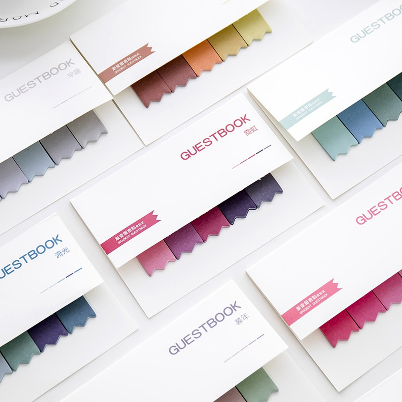 colorful sticky index labels