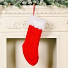 NHHB1837181-Knitted-Christmas-socks-with-white-raw-edges-red