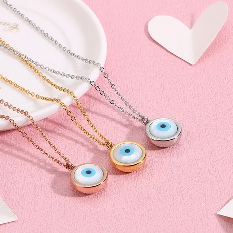 Collar de ojos de diablo de acero titanio de moda al por mayor Nihaojewelry NHKAL393840's discount tags