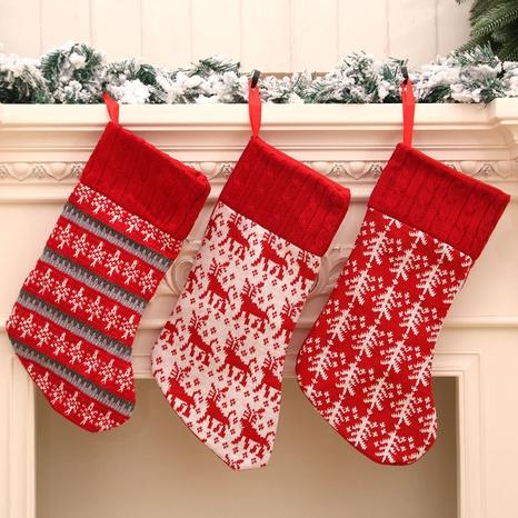 Commerce de gros nouveau tricoté Star Deer Christmas Tree Bas de Noël Nihaojewelry NHMV394464's discount tags