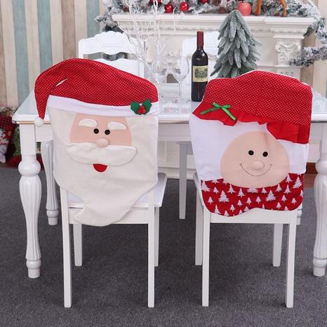 vente en gros housse de chaise en flanelle du père Noël de dessin animé Nihaojewelry NHMV394466's discount tags