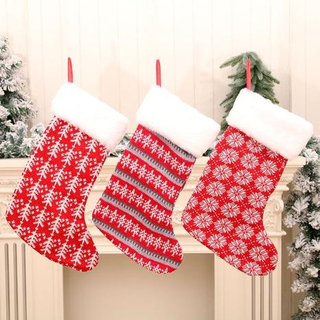 vente en gros nouvelles grandes chaussettes chaussettes de Noël rayées rouges et blanches Nihaojewelry NHMV394467's discount tags