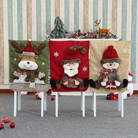 wholesale nouvelle housse de chaise tridimensionnelle en flanelle de Noël épaissie Nihaojewelry NHMV394468's discount tags