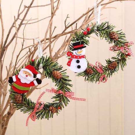 wholesale nouvelles décorations suspendues de porte de couronne de rotin de Noël Nihaojewelry NHMV394471's discount tags