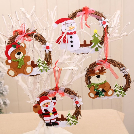 vente en gros nouvelle guirlande de rotin en bois décorations de Noël Nihaojewelry NHMV394477's discount tags