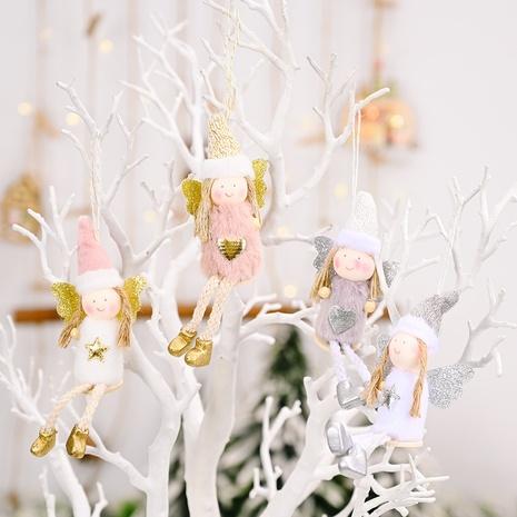 wholesale posture assise jambes suspendues poupée ange pendentif arbre de Noël Nihaojewelry NHHB394482's discount tags