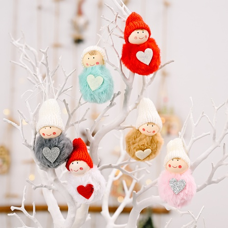 wholesale pendentif boule en peluche mini bonhomme de neige mignon décoration de Noël Nihaojewelry NHHB394486's discount tags