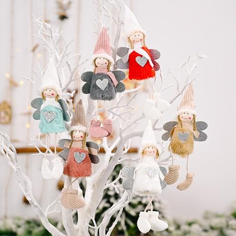 wholesale Décoration de Noël pendentif ange coeur en peluche Nihaojewelry NHHB394489's discount tags
