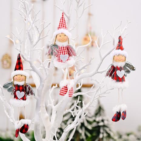Vente en gros Ailes De Tissu À Carreaux De Noël Coeur Fille Pendentif Décoration Nihaojewelry NHHB394491's discount tags