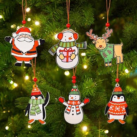 Arbre de Noël en gros Père Noël Bonhomme de neige Penguin Pendentif Décoration Nihaojewelry NHHB394494's discount tags