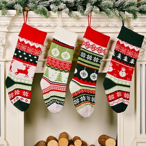 Vente en gros de chaussettes de couleurs contrastantes tricotées de Noël Décoration Nihaojewelry NHHB394501's discount tags