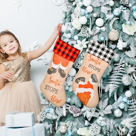 wholesale Décoration de sac-cadeau de bas de Noël en treillis Nihaojewelry NHHB394505's discount tags