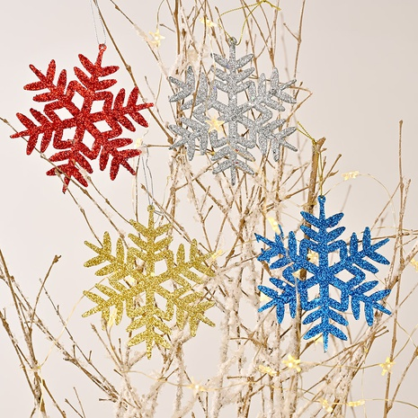 wholesale nouveaux flocons de neige un paquet de 4 couleurs décoration d'arbre de Noël Nihaojewelry NHHB394508's discount tags