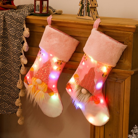 vente en gros nouveaux bas roses avec des lumières décoration de Noël Nihaojewelry NHHB394510's discount tags