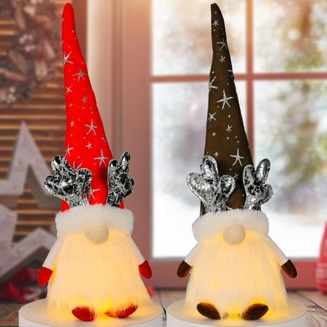 vente en gros nouvelles poupées de posture assise avec des bois de lumière décorations de NoëlNihaojewelry NHHB394511's discount tags