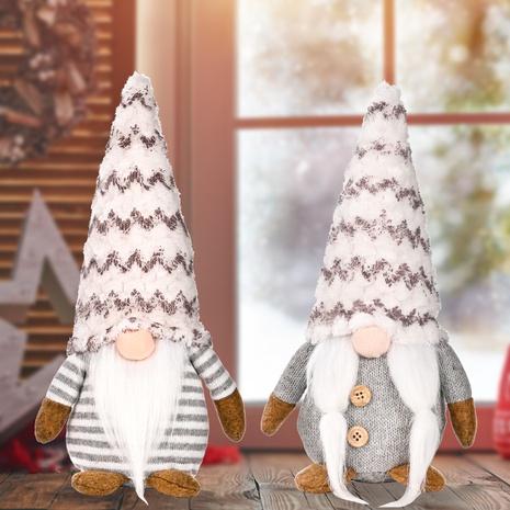 wholesale nouvelles poupées sans visage grises de Noël debout posent des ornements Nihaojewelry NHHB394512's discount tags