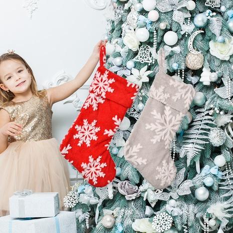 wholesale Nouveau bas de flocon de neige en peluche de décoration de Noël Nihaojewelry NHHB394513's discount tags