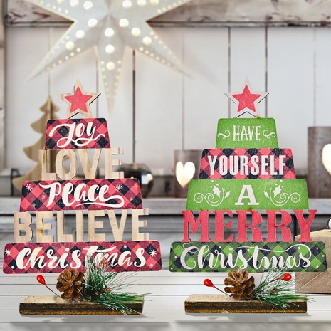 Vente en gros sapin de décoration de Noël imprimé creux en bois Nihaojewelry NHHB394514's discount tags
