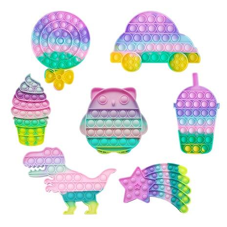 Color Dinosaur Owl Lollipop Puzzle Decompression Finger Toy wholesale Nihaojewelry NHZHI394574's discount tags