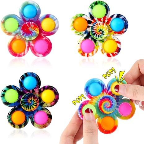 Comercio al por mayor impreso de cinco hojas Gyro Finger Rotación Descompresión Juguete Nihaojewelry NHZHI394576's discount tags