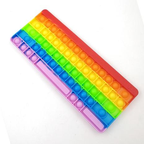 wholesale jouet de décompression de presse de doigt d'échiquier de bulle de couleur arc-en-ciel Nihaojewelry NHZHI394581's discount tags