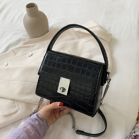 new fashion chain single-shoulder messenger stone pattern small square bag wholesale nihaojewelry NHGN394843's discount tags