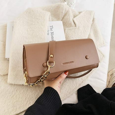 simple fashion solid color shoulder underarm messenger square bag wholesale nihaojewelry NHGN394845's discount tags