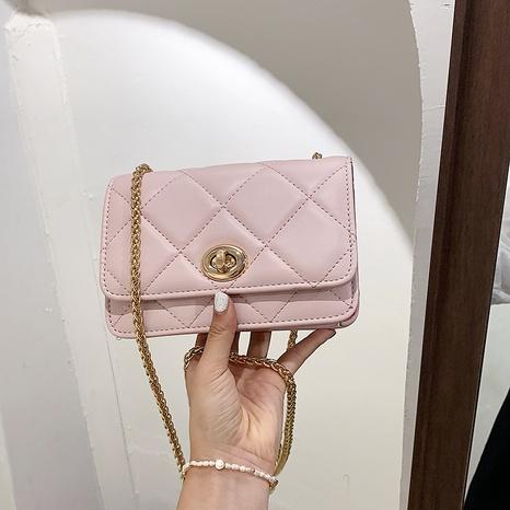 Popular fashion trend rhombus chain shoulder messenger lock bag wholesale nihaojewelry NHGN394851's discount tags