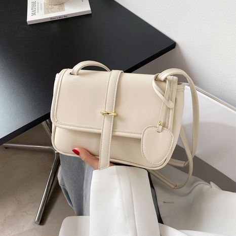 wholesale solid color buckle tyle messenger small square bag nihaojewelry  NHGN394990's discount tags
