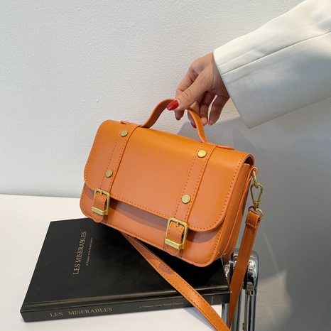 wholesale contrast color buckle type messenger shoulder bag nihaojewelry  NHGN394992's discount tags