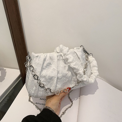 wholesale casual chain diagonal one-shoulder armpit cloud bag nihaojewelry  NHGN394999's discount tags