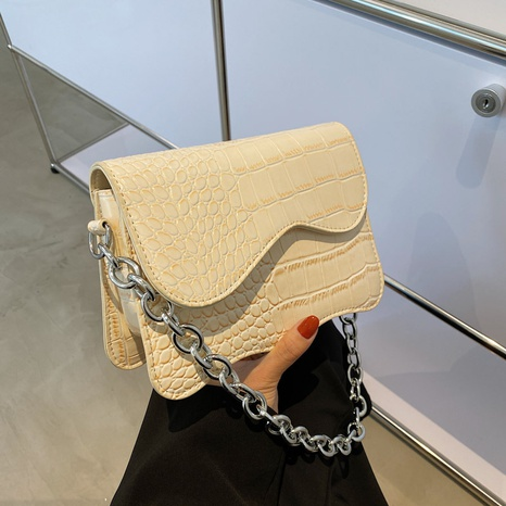 wholesale stone pattern chain shoulder small square bag nihaojewelry  NHGN395006's discount tags