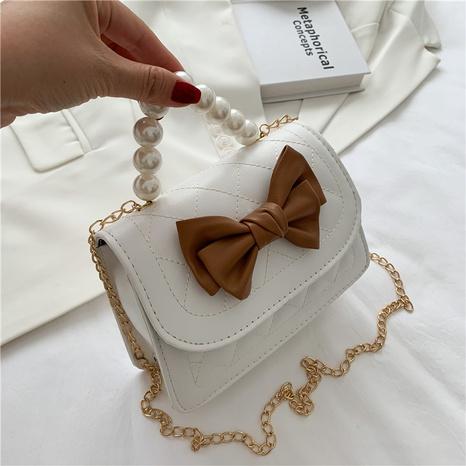 Einfache Perlenbogen eine Schulter Messenger kleine Tasche Großhandel nihaojewelry NHRU395015's discount tags