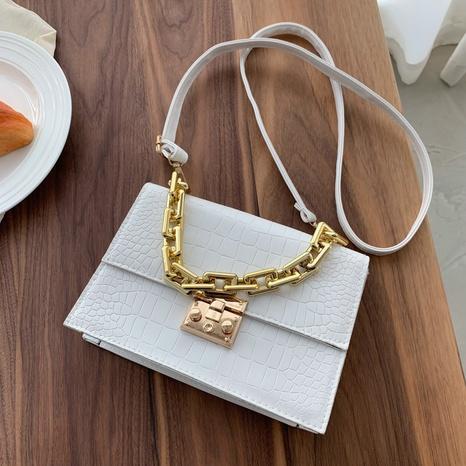 Mode einfarbig Kette quadratische Schulter diagonal handgehaltene kleine Tasche Großhandel nihaojewelry NHRU395017's discount tags