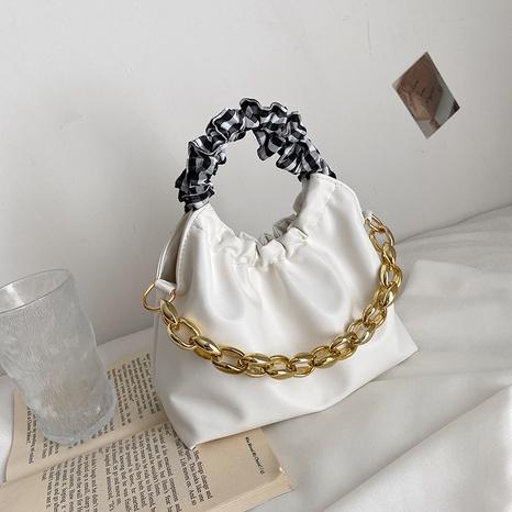 Koreanische Mode Schulter dicke Kette Messenger Handtasche Großhandel nihaojewelry NHRU395028's discount tags