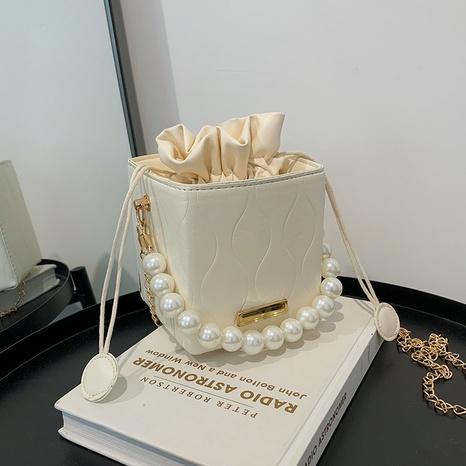 neue koreanische mode perle eimer umhängetasche großhandel nihaojewelry NHRU395030's discount tags