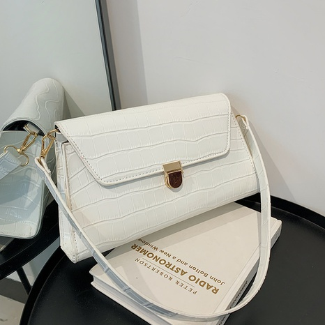 einfache Retro-reine Farbe One-Shoulder-Tasche Großhandel nihaojewelry NHRU395036's discount tags