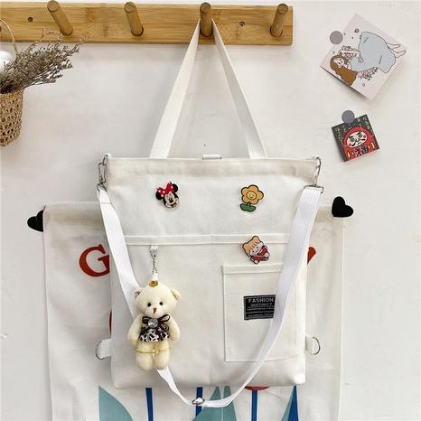 Mode große Kapazität Bär Canvas Schulter Messenger Tote Bag Großhandel nihaojewelry NHRU395045's discount tags
