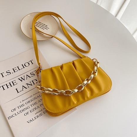 Koreanische One-Shoulder-Falt-Messenger-Quadrat kleine Kettentasche Großhandel nihaojewelry NHRU395050's discount tags