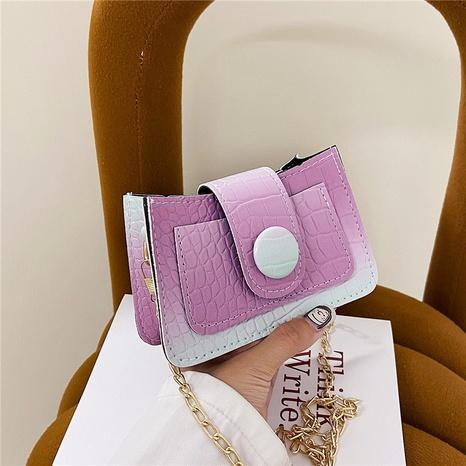 Neue Farbverlaufsfarbe kleine quadratische Messenger-Kettentasche Großhandel nihaojewelry NHRU395054's discount tags