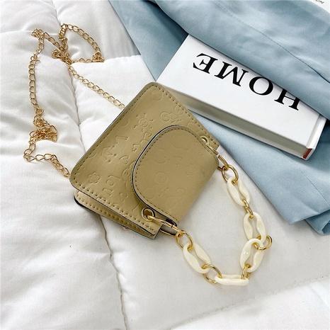 neue geprägte Mini One-Shoulder kleine quadratische Kette Umhängetasche Großhandel nihaojewelry NHRU395055's discount tags