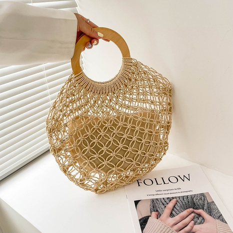 neue Mode beiläufige Stroh gewebte Handtasche Großhandel nihaojewelry NHRU395064's discount tags